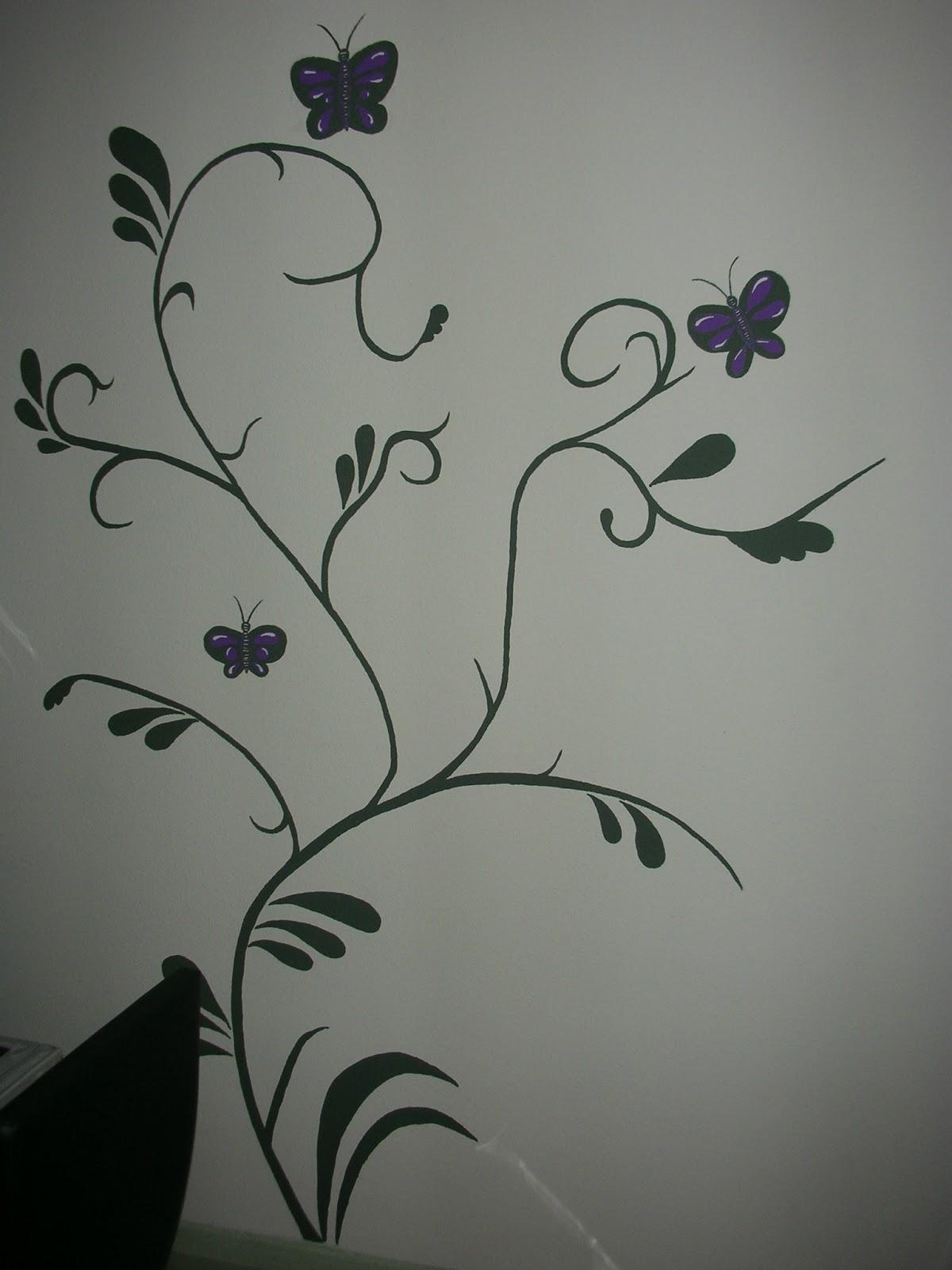Imagenes de flores para decorar paredes imagenes de flores - Dibujos para pintar paredes ...