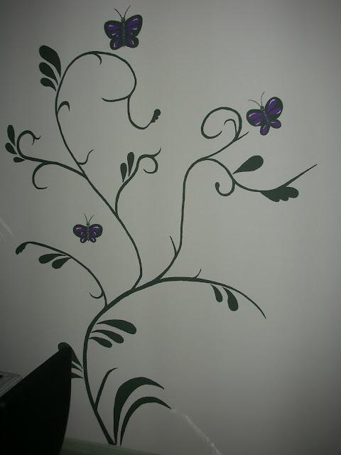 Con arte dibujo paredes flores - Dibujos para paredes de bebes ...