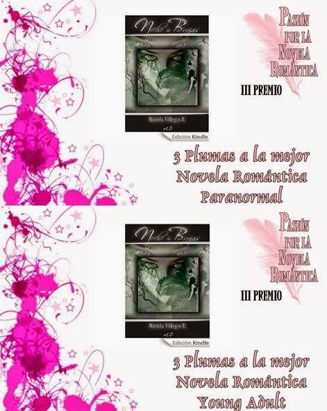 Ganadora del premio III Plumas de Pasión por la Novela Romántica