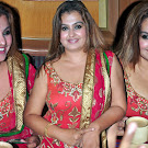 Sona in Red Silk Churidar Photo Gallery