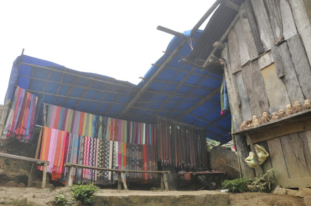 Photograph: Louise Kate Anderson - Silk scarves for sale in Sapa, Vietnam