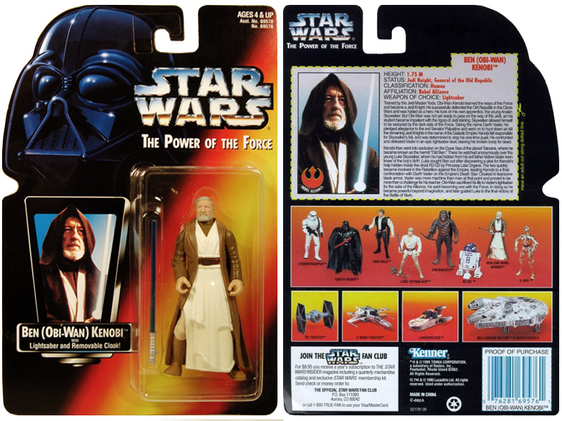 Star Wars Kenner Hasbro Blister Packaging