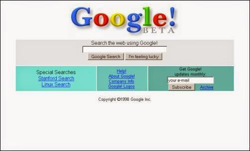 Tampilan Google Dari Tahun ke Tahun 2