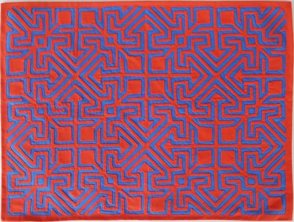 indian culture, art, reverse applique, geometric pattern, panama, latin amerina,  molas,  geometric art