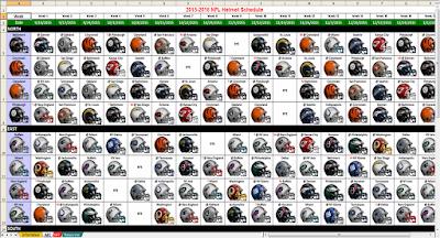 2015 nfl helmet schedule excel