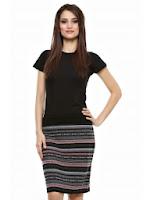 Fusta neagra cu imprimeu aztec, Zada Boutique (Zada Boutique)