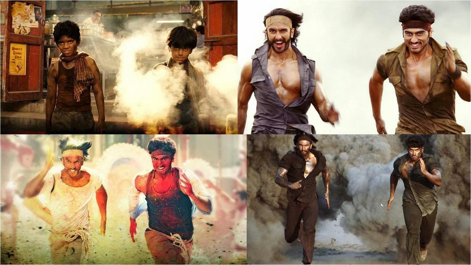 Arjun Kapoor and Ranveer Singh running as Bikram and Bala in Gunday movie stills