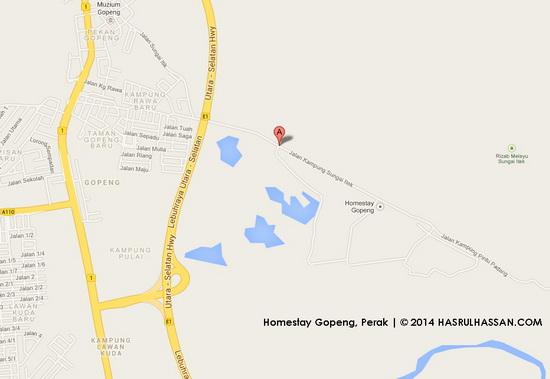 Peta ke Homestay Gopeng, Perak - VMY2014 Tourail