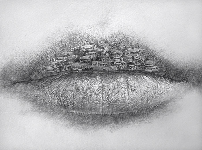New series of surreal lip illustrations by Switzerland-based artist Christo  Dagorov. The monochromatic pencil drawings blend the lips with various  images ... 9f20a18b00
