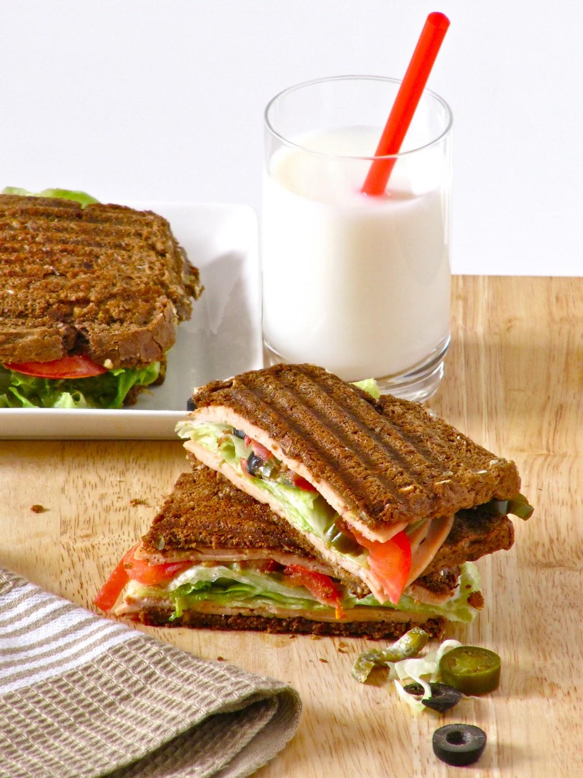 Grilled Chicken Mortadella Sandwich