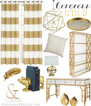 2013 home trends we love out of bounds blues Home decor gold