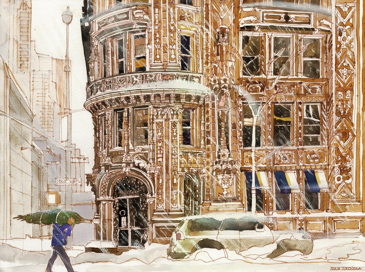 30-Winter-in-NYC-Maja-Wronska-Travels-Architecture-Paintings-www-designstack-co