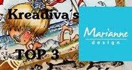 "TOP 3 Marianne Design Krea Divas op 10-02 2018 (#42) ""Kerst"""