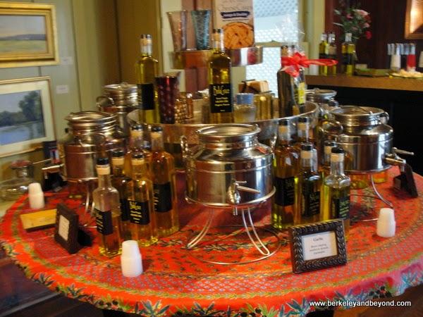 olive oil tasting bar at BellaGrace winery tasting room in Sutter Creek, California