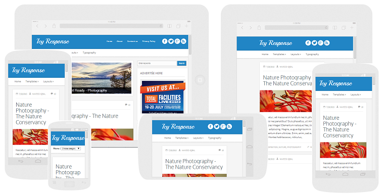 Icy Responsive Blogger Template