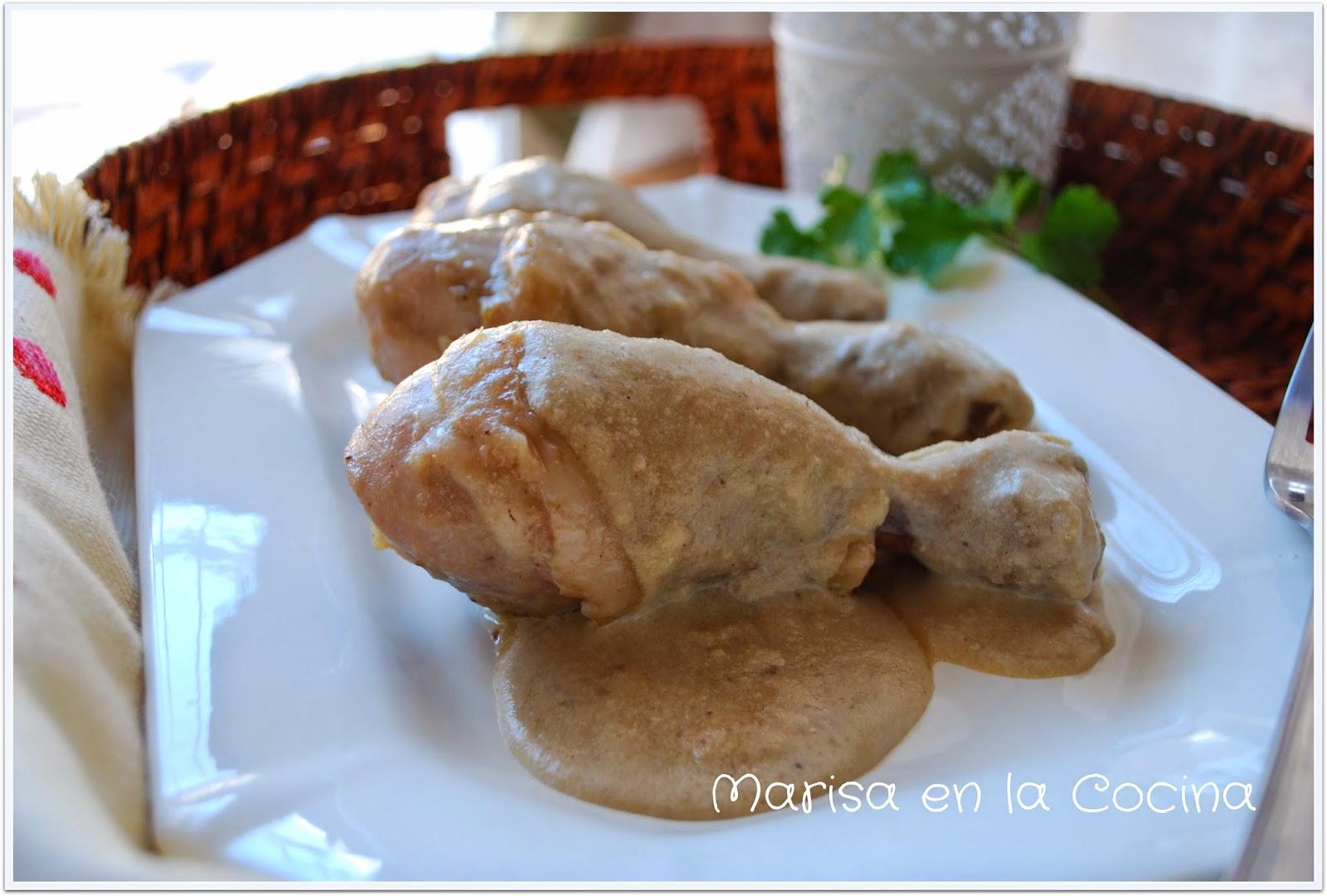 Marisa en la cocina muslos de pollo en salsa de almendras for Muslos pollo en salsa