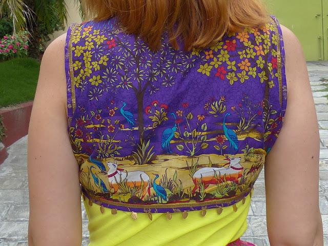 Ethnic print vest from Biba