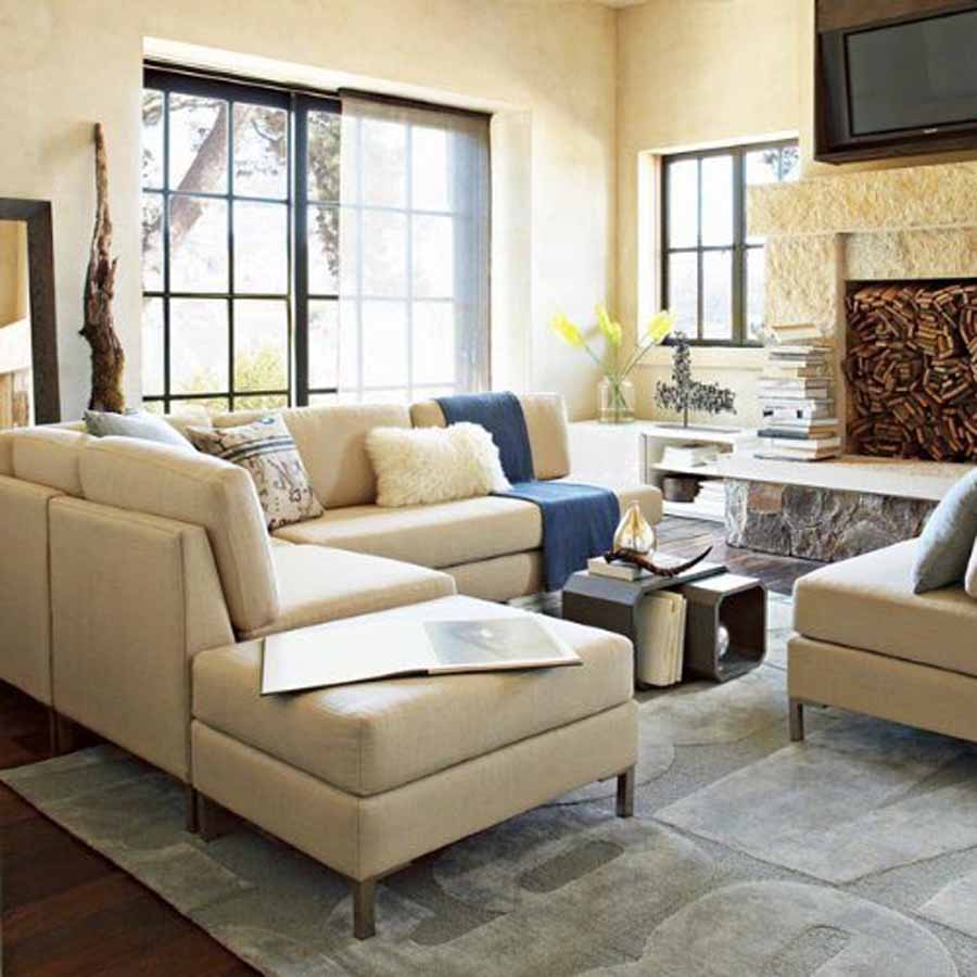 Living Room With Sectional : creative juice: Sectionals - What's the Big Deal?
