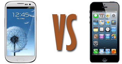Apple iPhone 5 vs Samsung Galaxy S3