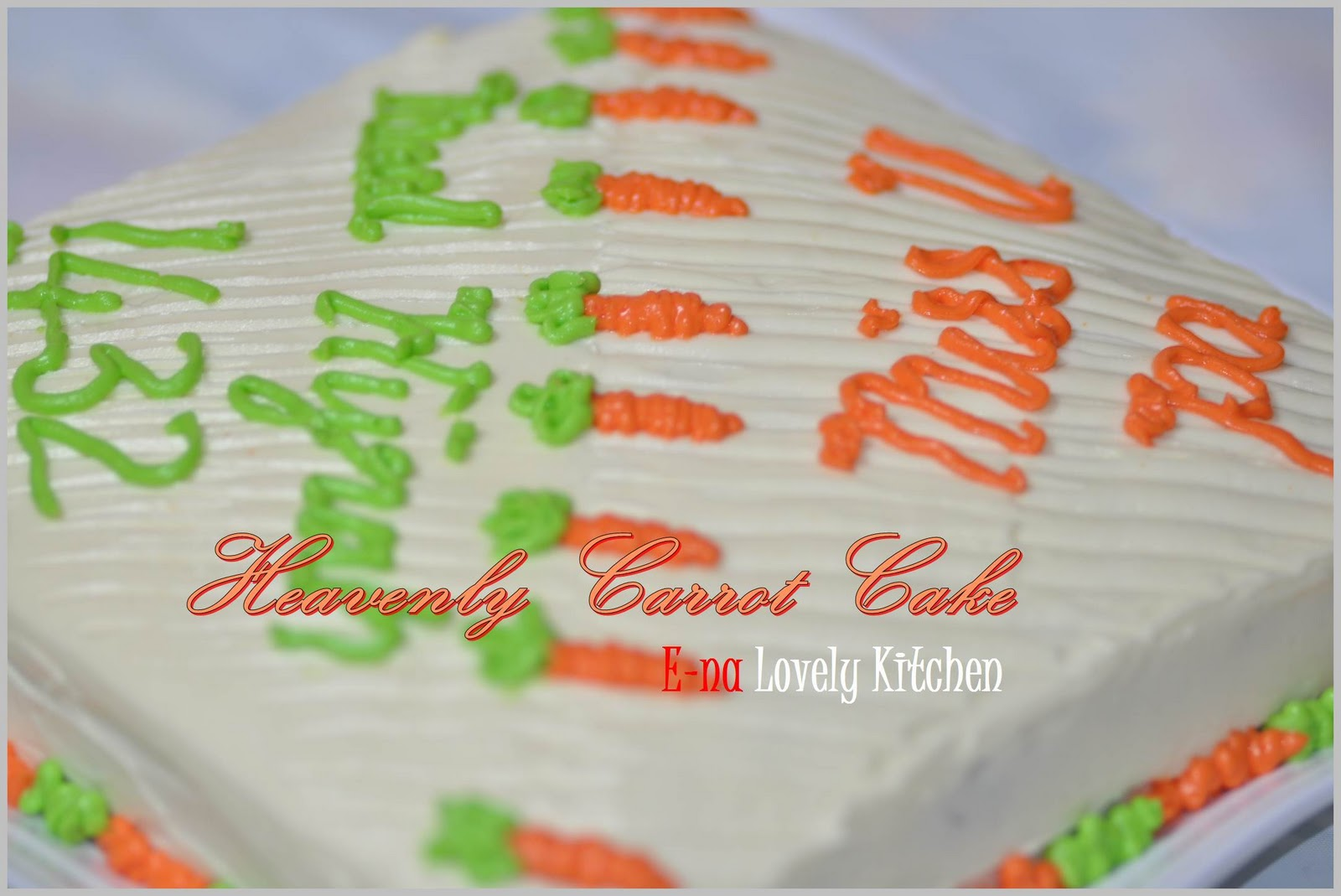RESEPI HEAVENLY CARROT CAKE