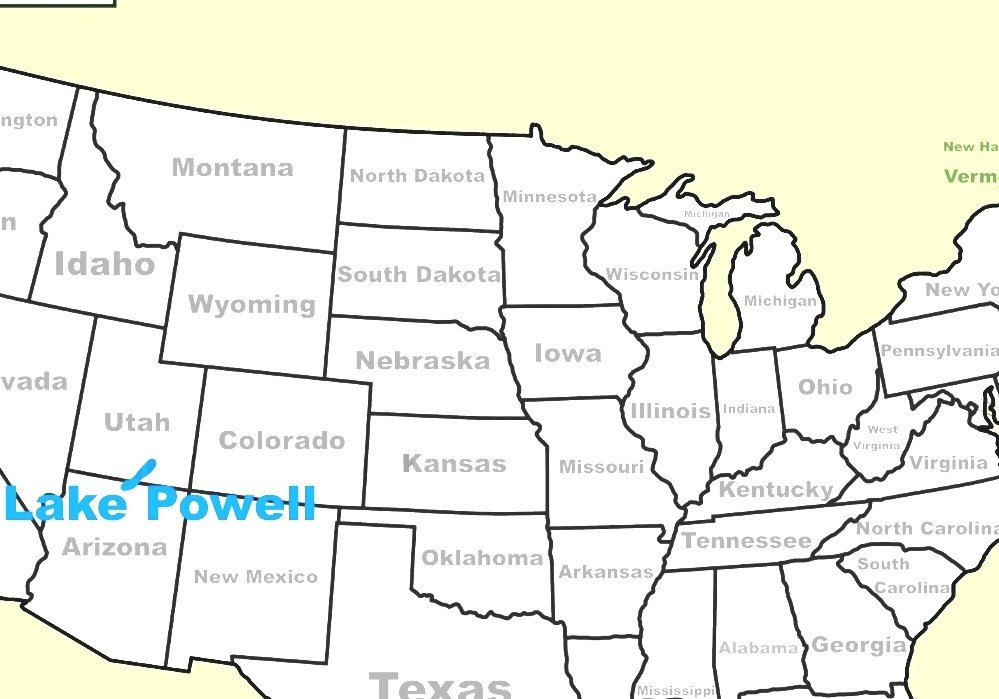 Lake Powell - Lake Powell Map