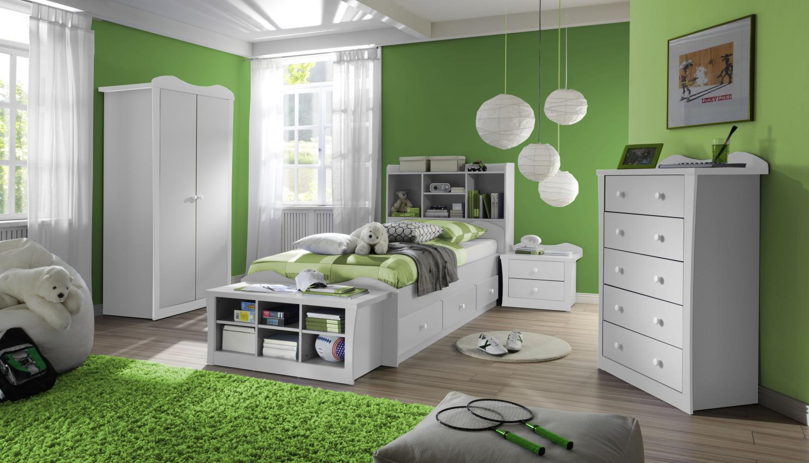 Dormitorio para ni os color verde ideas para decorar for Dormitorios verde agua
