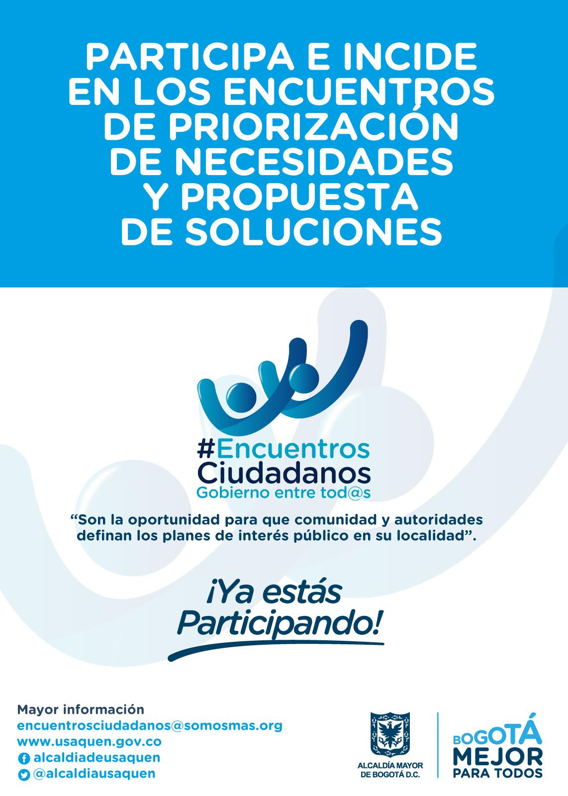 Usaquén: Encuentros Ciudadanos