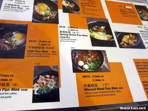 fancy mee wangsa maju menu