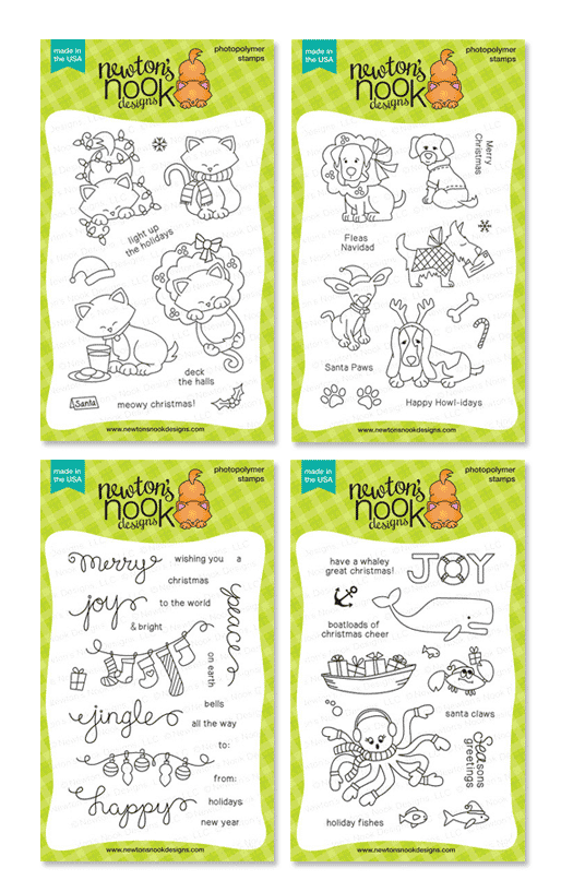 Newton's Nook Designs Holiday Stamps