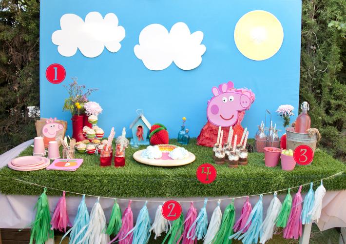 azucarillos de colores la fiesta de peppa pig y de alicia