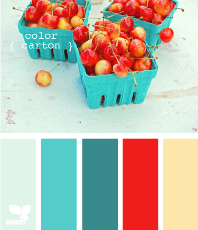 Hoot designs design seeds amazing color inspiration for Teal and red kitchen