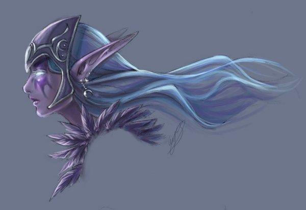 Warcraft - Night Elf Huntress por binkari