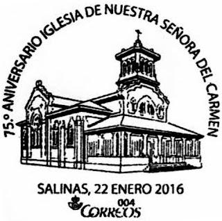 Matasellos iglesia de Salinas