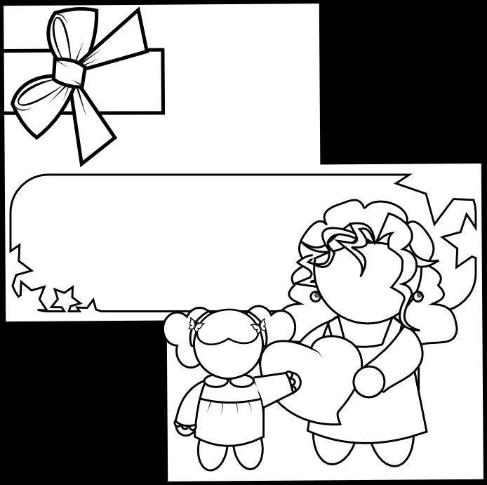 Dibujos Dia de la Madre para Colorear, parte 1