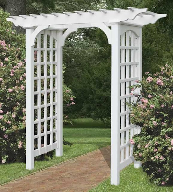 Garden Arbor With Gate7