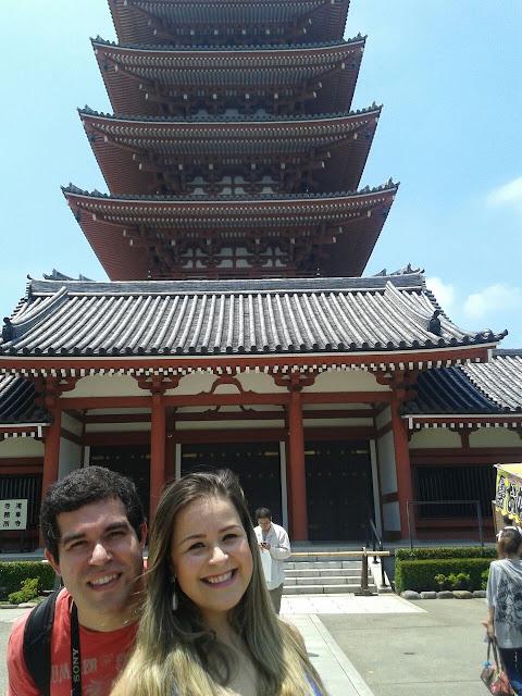 Pagode de 5 andares no Senso-ji, Tóquio, Japão