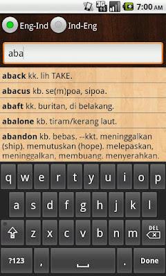 Kamus Inggris-Indonesia 2.0.1 apk Aplikasi Kamus Android