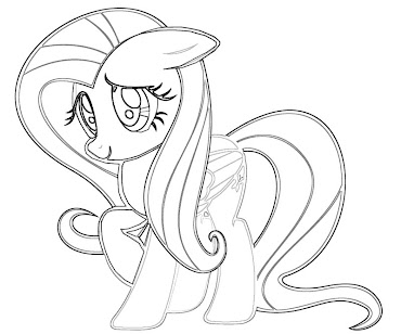 #17 Fluttershy Coloring Page
