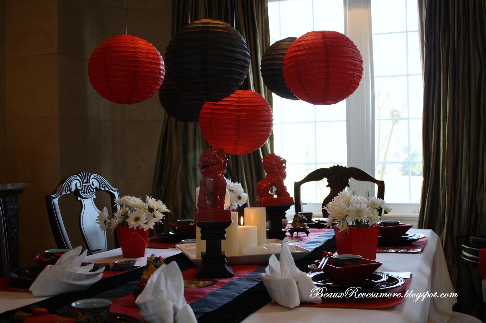 Interior Chinese new year decoration