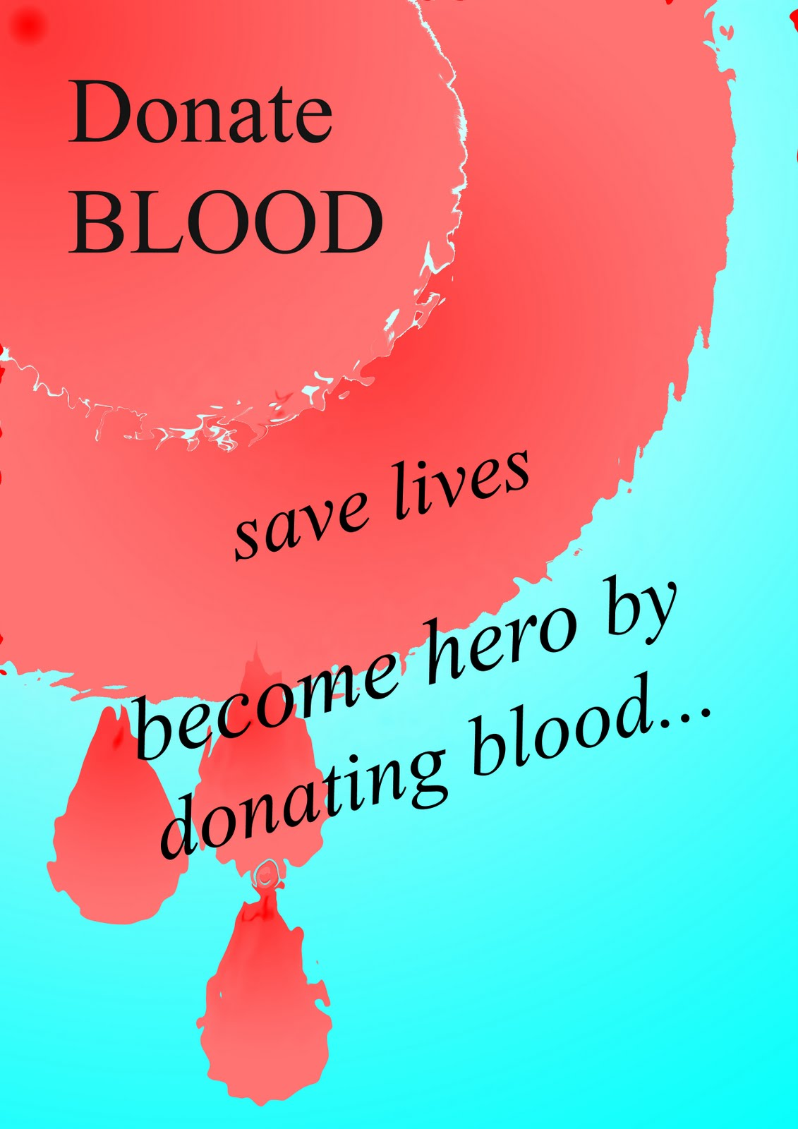 Donate blood save lives expressed by 2nd semester students of b birla institute of technology noida animation and multimedia department thecheapjerseys Gallery