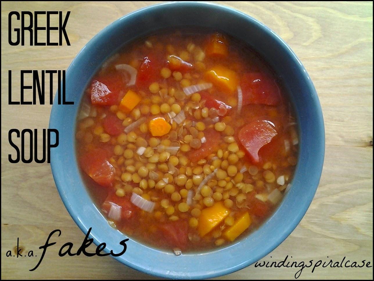 greek lentil soup fakes recipe