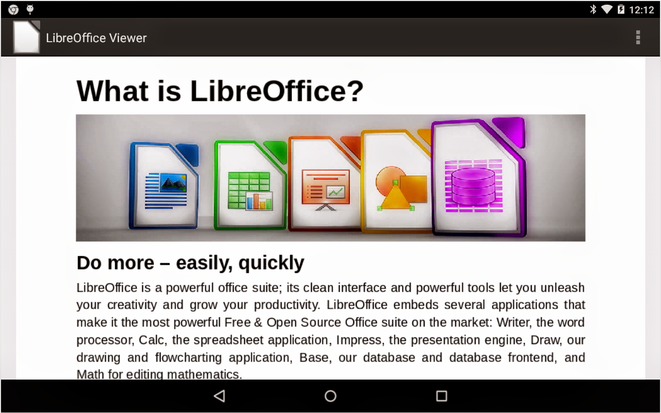 Libre Office Viewer para Android