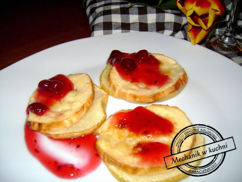 Pieczone jabłka z oscypkiem Mechanikw kuchni góralski ser przystawka oscypek