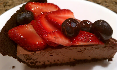 Vegan Chocolate Berry Pie
