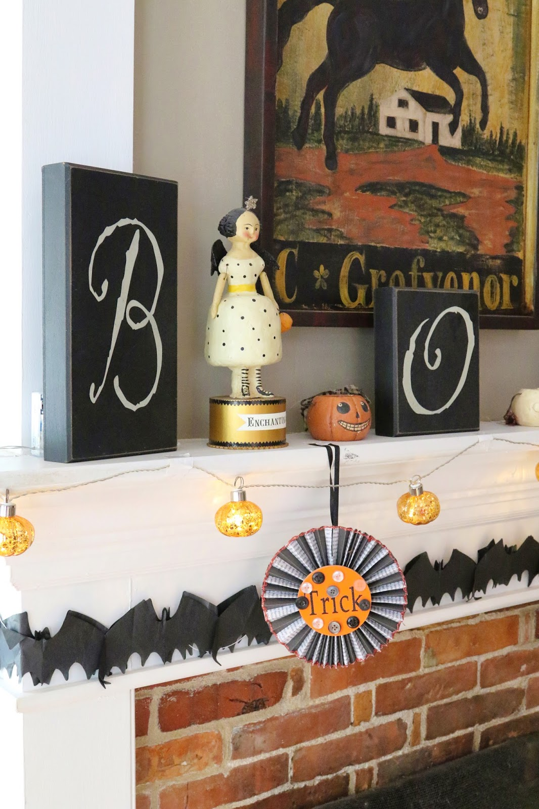 new england living: halloween house tour | witchy great room