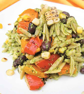 Orzo Salad With Cilantro Lime Pesto