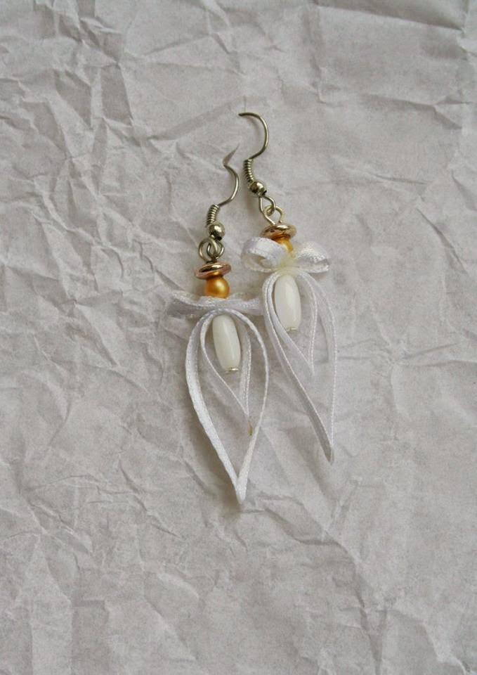 Csepp alakú egyedi fülbevaló esküvőre