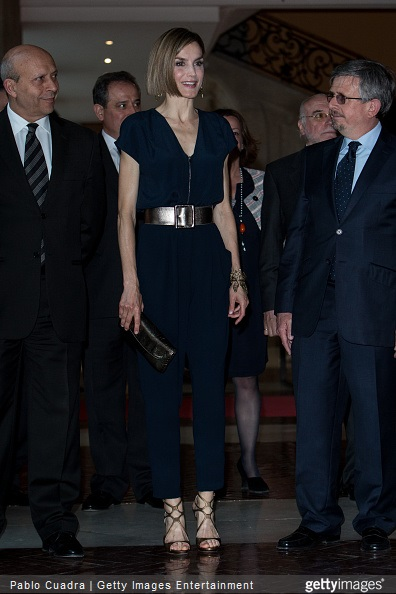 Queen Letizia of Spain attends the 'Barco de Vapor' and 'Gran Angular' awards ceremony on April 21, 2015 in Madrid, Spain.