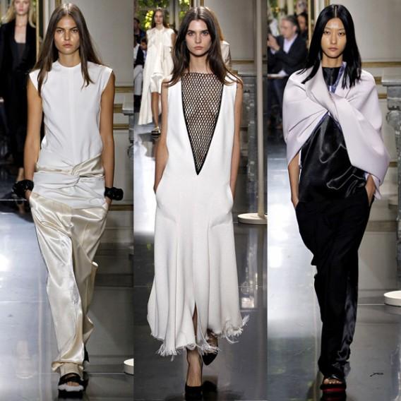 Couleurs  noir et blanc, rouge coquelicot, flashs bleu ou vert électrique,  tons poudrés fond de teint. Les créateurs  Chanel, Viktor   Rolf, Vuitton,  ... db16d2fdd56