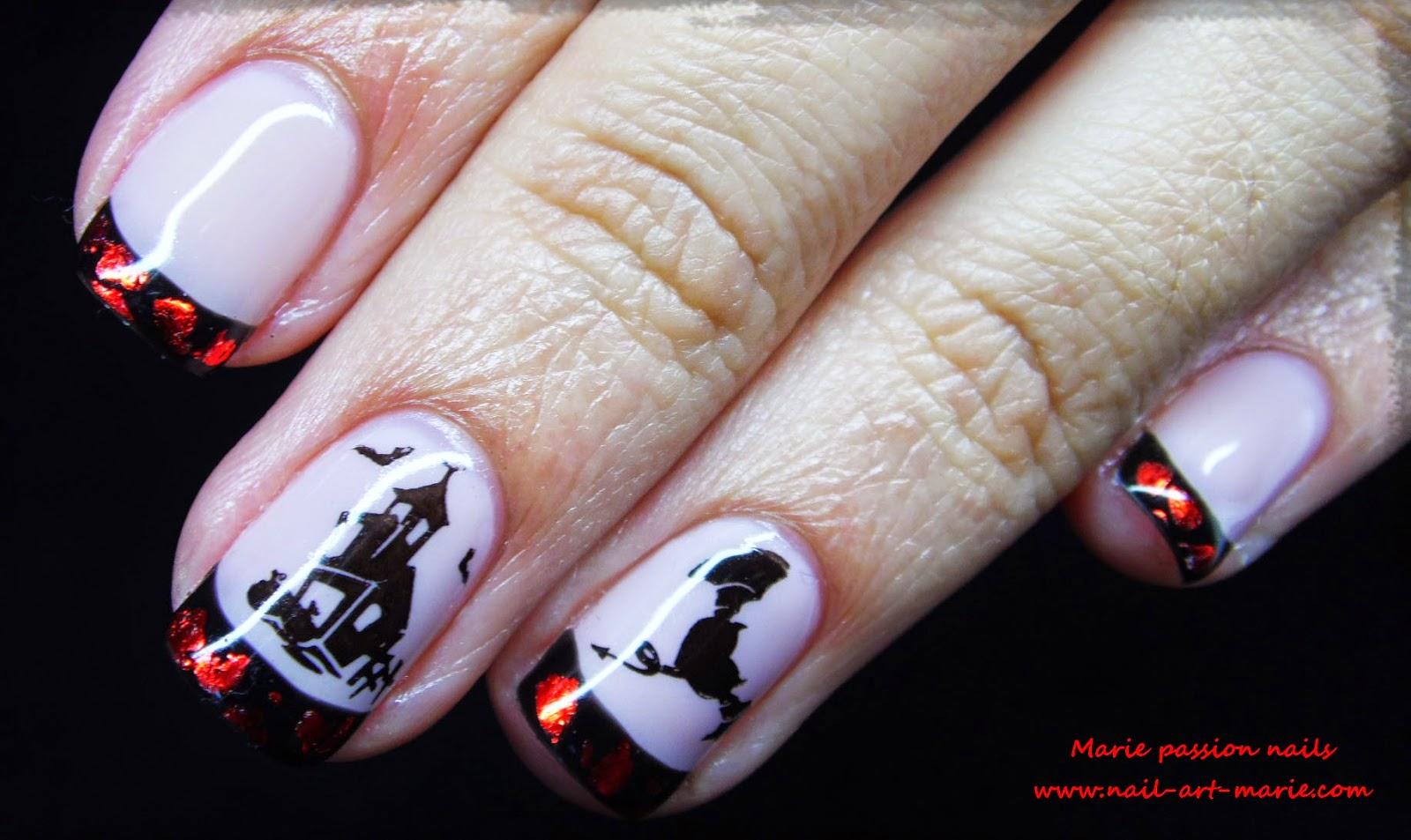 Nail Art d' Halloween en semi-permanent6